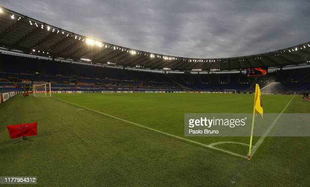 A general view of the Stadio Olimpico before the UEFA Europa League group J match between AS Roma and Borussia Moenchengladbach at Stadio Olimpico on...
