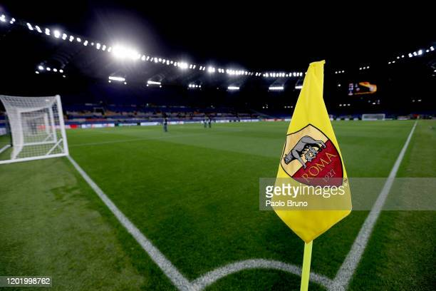A general view of the Stadio Olimpico before the UEFA Europa League round of 32 first leg match between AS Roma and KAA Gent at Stadio Olimpico on...