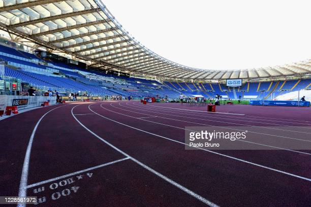 A general view of the Stadio Olimpico during the IAAF Diamond League 40th golden gala 'Pietro Mennea' at Olimpico Stadium on September 17 2020 in...