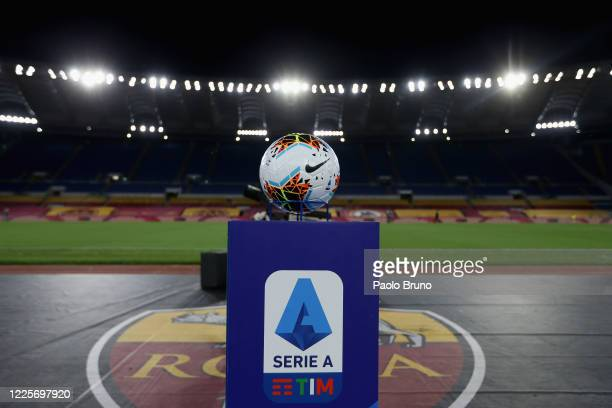 A general view of the Stadio Olimpico during the Serie A match between AS Roma and Parma Calcio at Stadio Olimpico on July 8 2020 in Rome Italy