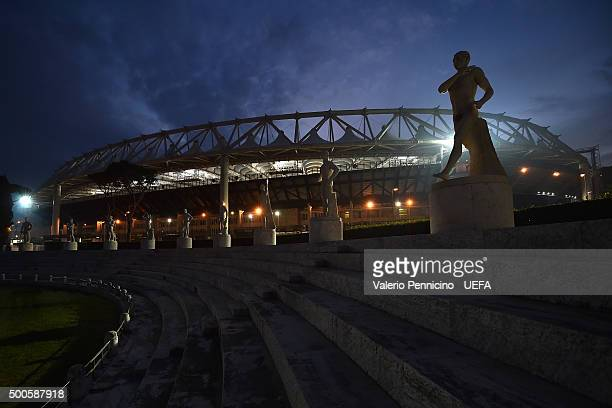 A general view of the Stadio Olimpico prior to the UEFA Champions League Group E match between AS Roma and FC BATE Borisov at Stadio Olimpico on...