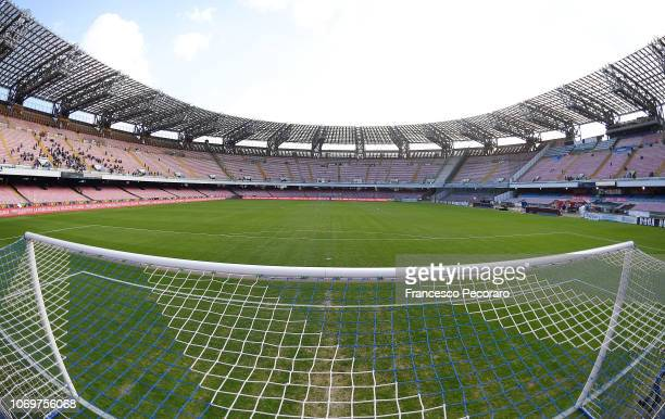 A general view of the Stadio San Paolo before the Serie A match between SSC Napoli and Frosinone Calcio at Stadio San Paolo on December 8 2018 in...