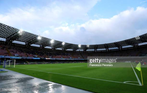 A general view of the Stadio San Paolo before the Serie A match between SSC Napoli and Cagliari at Stadio San Paolo on May 05 2019 in Naples Italy