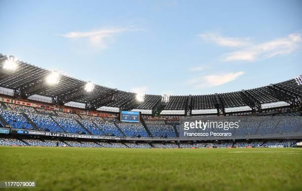 A general view of the Stadio San Paolo before the Serie A match between SSC Napoli and Cagliari Calcio at Stadio San Paolo on September 25 2019 in...