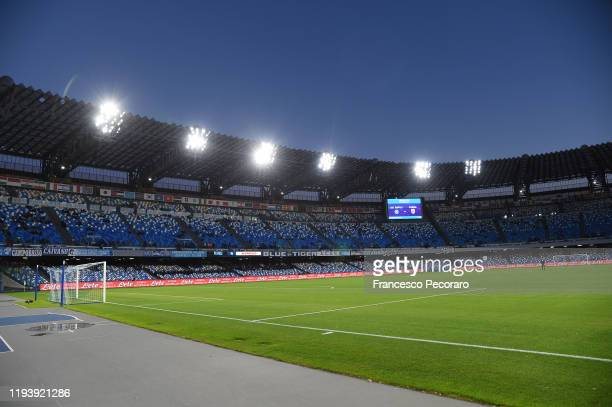 A general view of the Stadio San Paolo before the Serie A match between SSC Napoli and Parma Calcio at Stadio San Paolo on December 14 2019 in Naples...