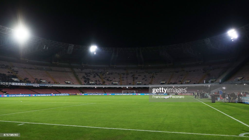 A general view of the Stadio San Paolo before the Serie A match between SSC Napoli and AC Milan at Stadio San Paolo on November 18, 2017 in Naples, Italy.