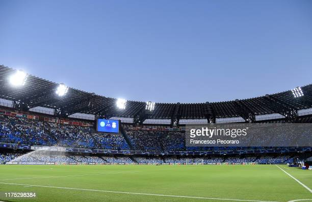 A general view of the Stadio San Paolo before the UEFA Champions League group E match between SSC Napoli and Liverpool FC at Stadio San Paolo on...