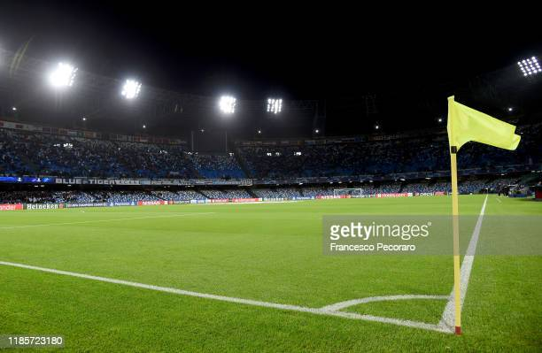 A general view of the Stadio San Paolo before the UEFA Champions League group E match between SSC Napoli and RB Salzburg at Stadio San Paolo on...
