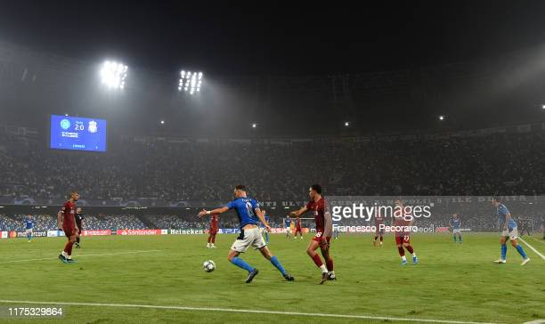 General view of the Stadio San Paolo during the UEFA Champions League group E match between SSC Napoli and Liverpool FC at Stadio San Paolo on...