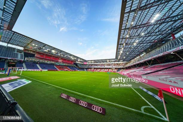 General view of the Stadion during the tipico Bundesliga match between FC Red Bull Salzburg and WSG Swarovski Tirol at Red Bull Arena on October 31,...