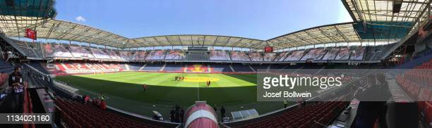 A general view of the Stadion during the tipico Bundesliga match between RB Salzburg and Austria Wien at Red Bull Arena on March 31 2019 in Salzburg...