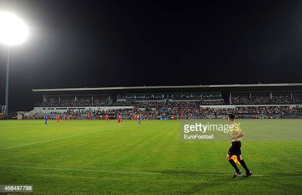 A general view of the Stadion Hnk Cibalia pitch during the UEFA U21 Championship Playoff Second Leg match between Croatia and England at the Stadion...