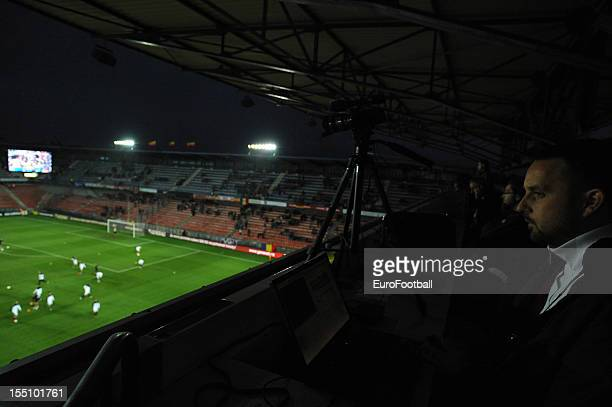 General view of the Stadion Letna home of AC Sparta Praha taken during the UEFA Europa League group stage match between AC Sparta Praha and Hapoel...