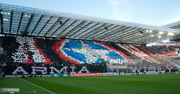 General view of the Stadion Miejski home of Wisla Krakow during the Polish Ekstraklasa match between Wisla Krakow and Ruch Chorzow held on September...