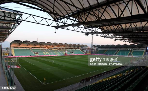 a4ecf600d4 A general view of the Stadion MSK in Zilina Slovakia