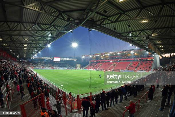 General view of the stadion prior to the Second Bundesliga match between 1. FC Union Berlin and DSC Arminia Bielefeld at Stadion An der Alten...