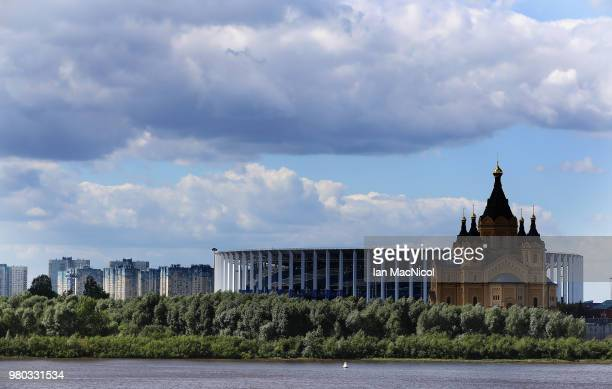 General view of the stadium ahead of the 2018 FIFA World Cup Russia group D match between Argentina and Croatia at Nizhny Novgorod Stadium on June...