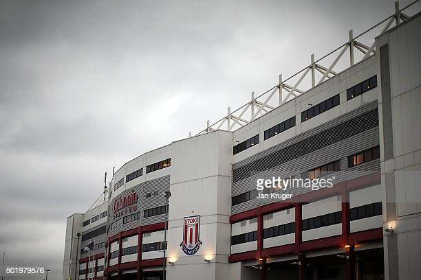 A general view of the stadium ahead of the Barclays Premier League match between Stoke City and Crystal Palace at Britannia Stadium on December 19...