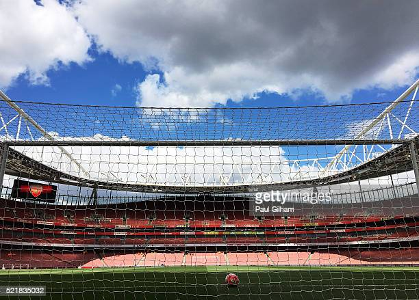 A general view of the stadium ahead of the Barclays Premier League match between Arsenal and Crystal Palace at the Emirates Stadium on April 17 2016...