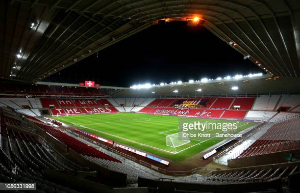 General view of the stadium ahead of the Checkatrade Trophy match between Sunderland and Manchester City U21 at The Stadium of Light on January 22,...