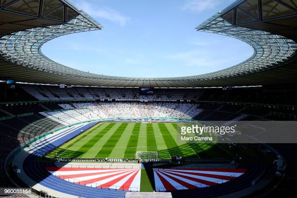 A general view of the stadium ahead of the DFB Cup final between Bayern Muenchen and Eintracht Frankfurt at Olympiastadion on May 19 2018 in Berlin...