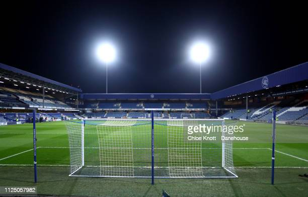 General view of the stadium ahead of the FA Cup Fifth Round match between Queens Park Rangers and Watford FC at Loftus Road on February 15, 2019 in...