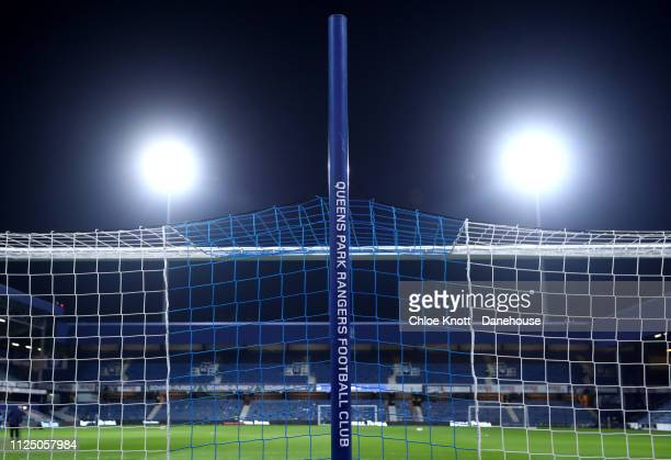 A general view of the stadium ahead of the FA Cup Fifth Round match between Queens Park Rangers and Watford FC at Loftus Road on February 15 2019 in...