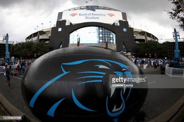 A general view of the stadium ahead of the game between the Dallas Cowboys and Carolina Panthers at Bank of America Stadium on September 9 2018 in...