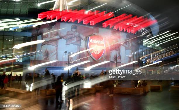 General view of the stadium ahead of the International Friendly between Brazil and Uruguay at Emirates Stadium on November 16, 2018 in London,...