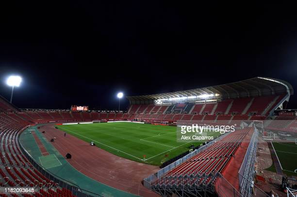 A general view of the stadium ahead of the La Liga match between RCD Mallorca and Real Madrid CF at Iberostar Estadi on October 19 2019 in Mallorca...
