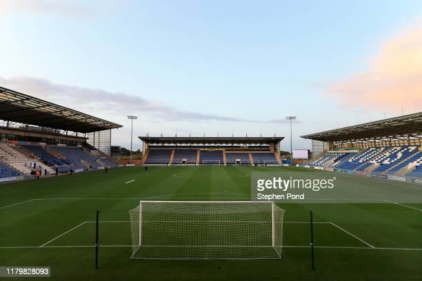 General view of the stadium ahead of the Leasing.com Trophy match between Colchester United and Tottenham Hotspur U21 at JobServe Community Stadium...