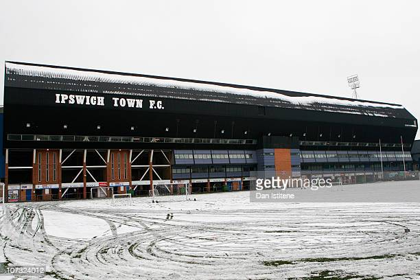A general view of the stadium ahead of the npower Championship match between Ipswich Town and Swansea City at Portman Road on December 4 2010 in...