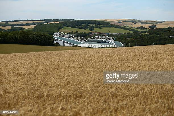 A general view of the stadium ahead of the Pre Season Friendly between Brighton Hove Albion and Seville at Amex Stadium on August 2 2015 in Brighton...