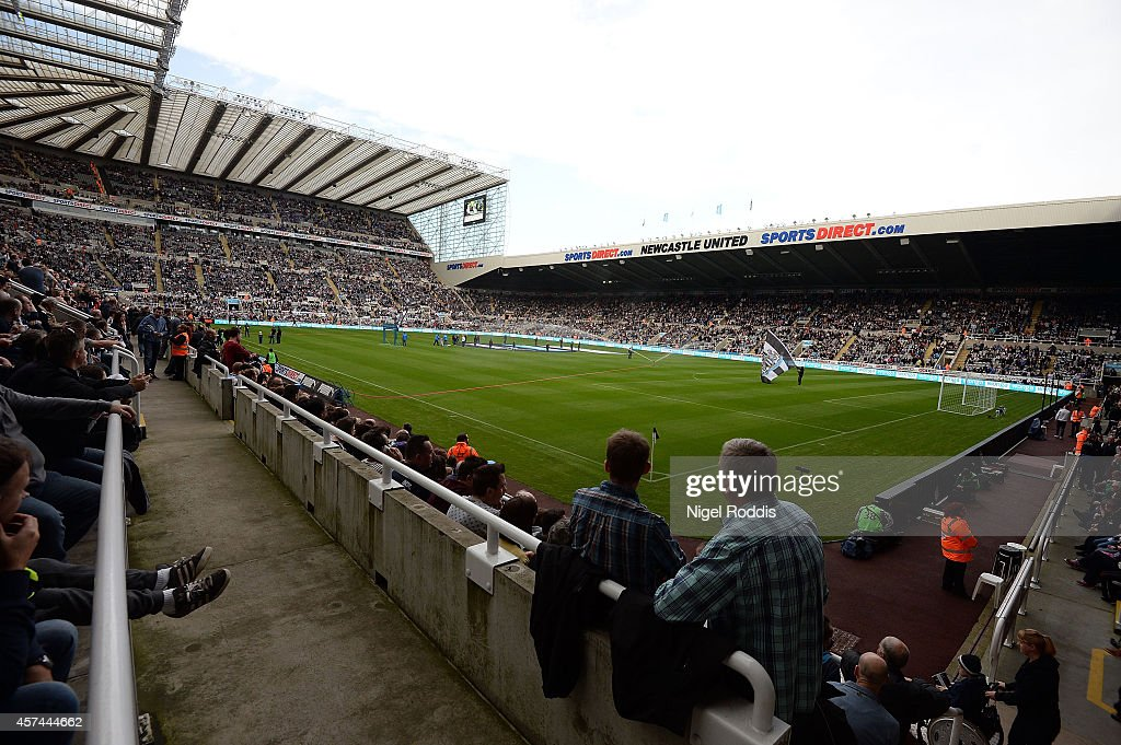 A general view of the stadium ahead of the Premier League football match between Newcastle United and Leicester City at St James' Park on October 18, 2014 in Newcastle upon Tyne, England.