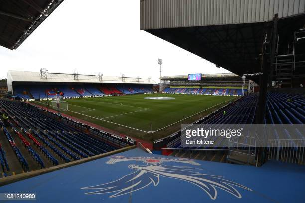 A general view of the stadium ahead of the Premier League match between Crystal Palace and Watford FC at Selhurst Park on January 12 2019 in London...