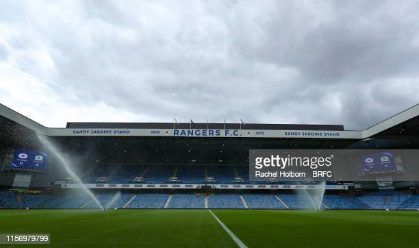 General view of the stadium ahead of the pre-season friendly between Glasgow Rangers and Blackburn Rovers at Ibrox Stadium on July 21, 2019 in...