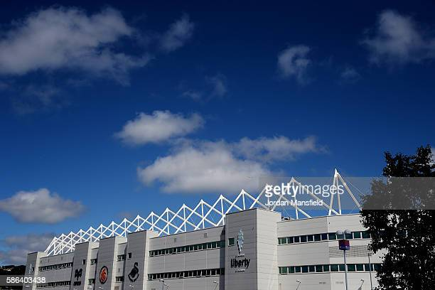 A general view of the stadium ahead of the preseason friendly between Swansea City and Stade Rennais at Liberty Stadium on August 6 2016 in Swansea...