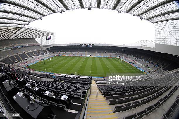 A general view of the stadium ahead of the Rugby World Cup 2015 Pool B match between South Africa and Scotland at St James Park on October 03 2015 in...