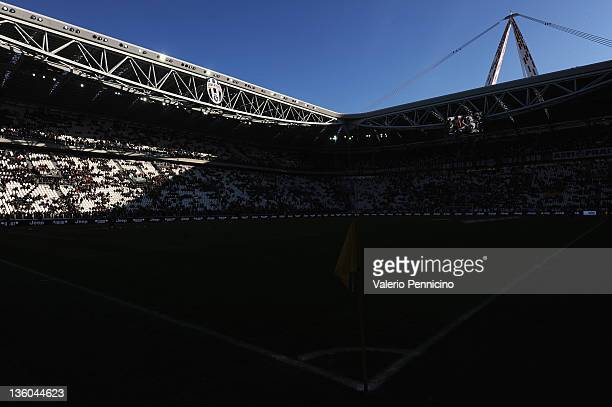A general view of the stadium ahead of the Serie A match between Juventus FC and Novara Calcio at Juventus Arena on December 18 2011 in Turin Italy