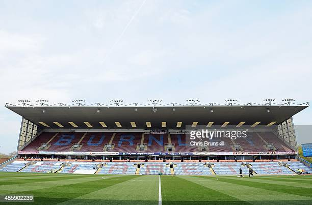 A general view of the stadium ahead of the Sky Bet Championship match between Burnley and Wigan Athletic at Turf Moor on April 21 2014 in Burnley...