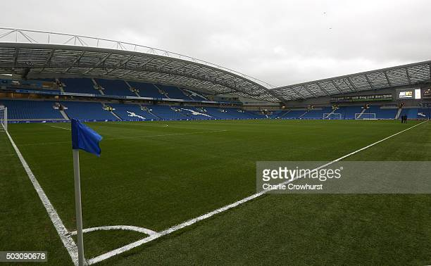 A general view of the stadium ahead of the Sky Bet Championship match between Brighton and Hove Albion and Wolverhampton Wanderers at The Amex...