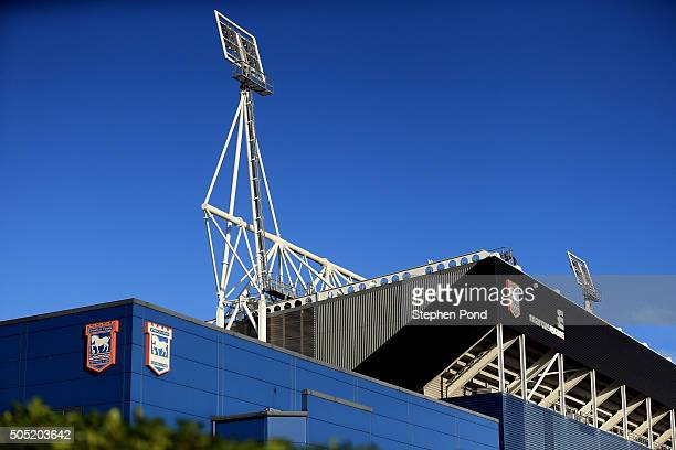 A general view of the stadium ahead of the Sky Bet Championship match between Ipswich Town and Preston North End at Portman Road on January 16 2016...