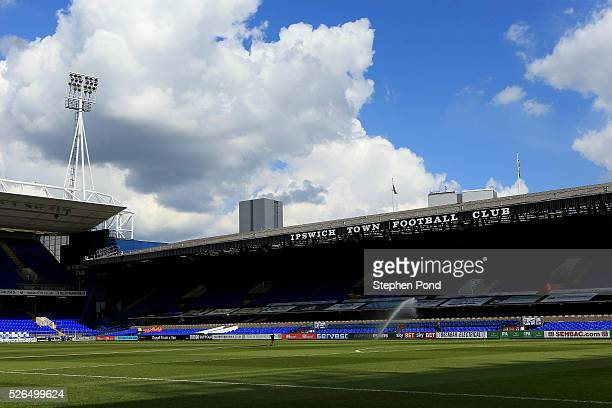 A general view of the stadium ahead of the Sky Bet Championship match between Ipswich Town and Milton Keynes Dons at Portman Road on April 30 2016 in...