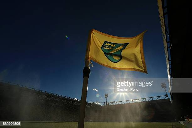 A general view of the stadium ahead of the Sky Bet Championship match between Norwich City and Birmingham City at Carrow Road on January 28 2017 in...