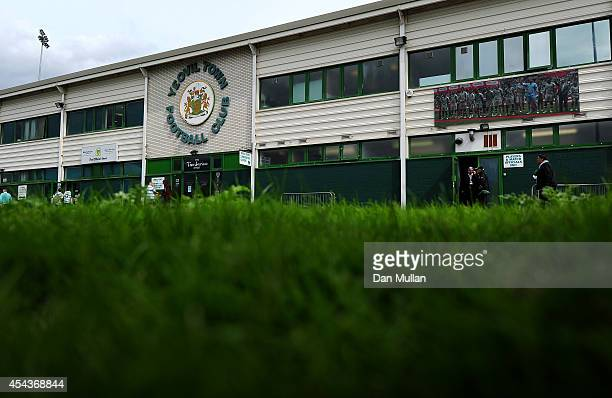 General view of the stadium ahead of the Sky Bet League One match between Yeovil Town and Barnsley at Huish Park on August 30, 2014 in Yeovil,...