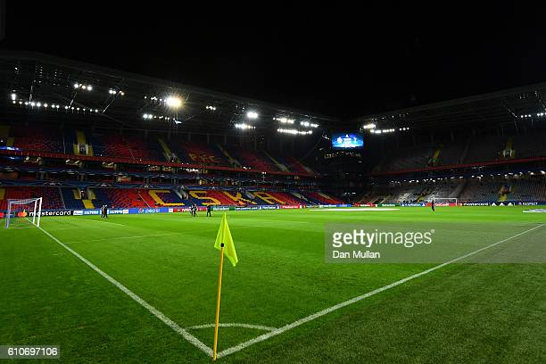 A general view of the stadium ahead of the UEFA Champions League Group E match between PFC CSKA Moskva and Tottenham Hotspur FC at Stadion CSKA...