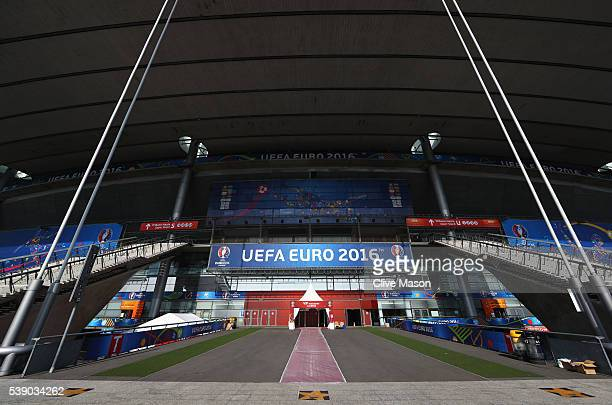 A general view of the stadium ahead of the UEFA Euro 2016 at Stade de France on June 9 2016 in Paris France The opening match of the tournament is on...