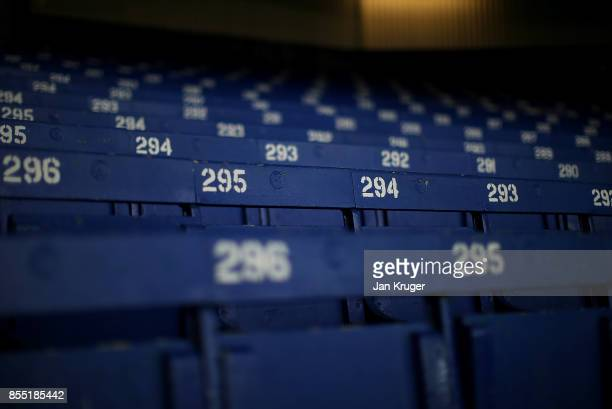 A general view of the stadium ahead of the UEFA Europa League group E match between Everton FC and Apollon Limassol at Goodison Park on September 28...