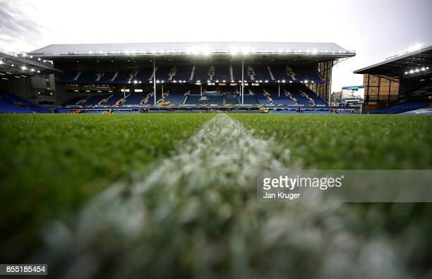 General view of the stadium ahead of the UEFA Europa League group E match between Everton FC and Apollon Limassol at Goodison Park on September 28,...