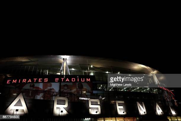 A general view of the stadium ahead of the UEFA Europa League group H match between Arsenal FC and BATE Borisov at Emirates Stadium on December 7...